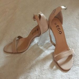 Ego Shoes size 9 clear heels